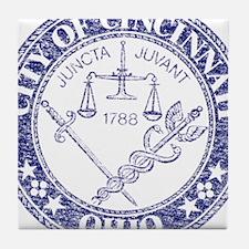 Vintage Cincinnati Seal Tile Coaster
