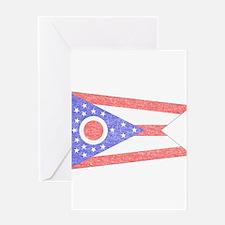 Vintage Ohio State Flag Greeting Card