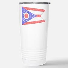 Vintage Ohio State Flag Travel Mug