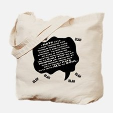 MJ Hate Text Tote Bag