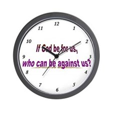If God Be For Us Wall Clock
