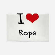 I Love Rope Rectangle Magnet
