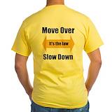 Towing Mens Yellow T-shirts