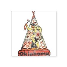 Vintage Oklahoma Indian Sticker
