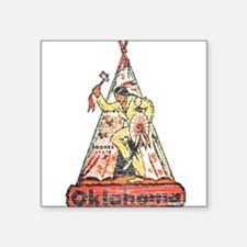 Vintage Oklahoma Indian Sticker