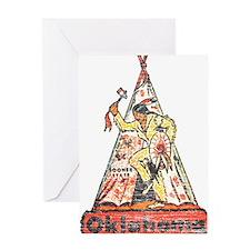 Vintage Oklahoma Indian Greeting Card