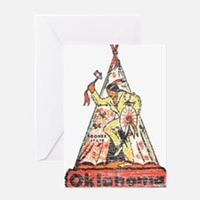 Vintage Oklahoma Indian Greeting Card