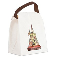 Vintage Oklahoma Indian Canvas Lunch Bag