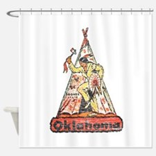 Vintage Oklahoma Indian Shower Curtain