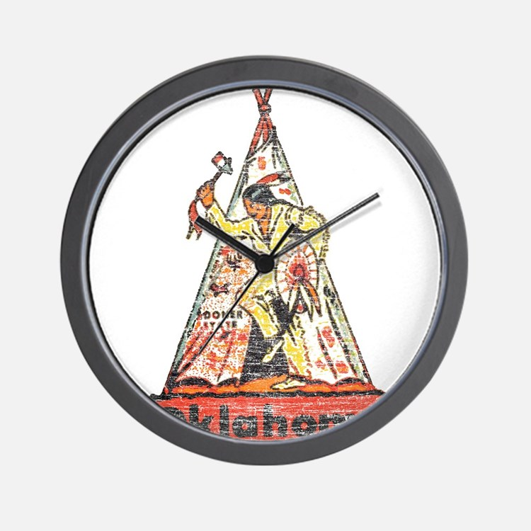 Vintage Oklahoma Indian Wall Clock