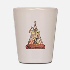 Vintage Oklahoma Indian Shot Glass
