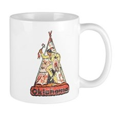 Vintage Oklahoma Indian Mug