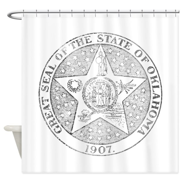 Vintage Oklahoma State Seal Shower Curtain By Nationalvintage
