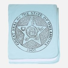 Vintage Oklahoma State Seal baby blanket