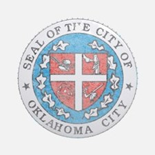 Vintage Oklahoma City Ornament (Round)