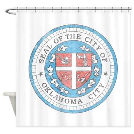 Vintage Oklahoma City Shower Curtain