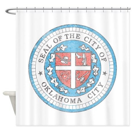 Vintage Oklahoma City Shower Curtain By Nationalvintage