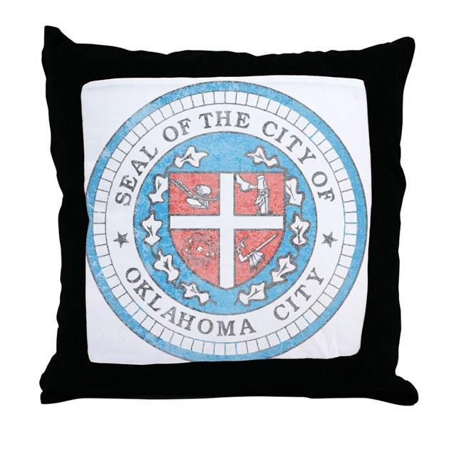 vintage oklahoma city throw pillow by nationalvintage