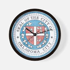 Vintage Oklahoma City Wall Clock