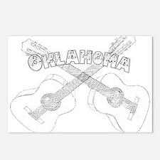 Oklahoma Guitars Postcards (Package of 8)