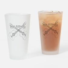 Oklahoma Guitars Drinking Glass
