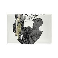 Oklahoma Fishing Rectangle Magnet