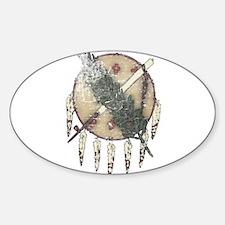 Faded Dreamcatcher Sticker (Oval)
