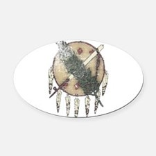 Faded Dreamcatcher Oval Car Magnet