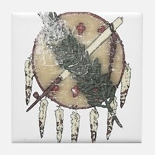 Faded Dreamcatcher Tile Coaster