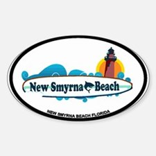 New Smyrna Beach - Surf Design. Sticker (Oval)