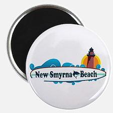 New Smyrna Beach - Surf Design. Magnet