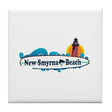 New Smyrna Beach - Surf Design. Tile Coaster