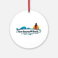 New Smyrna Beach - Surf Design. Ornament (Round)