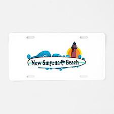 New Smyrna Beach - Surf Design. Aluminum License P