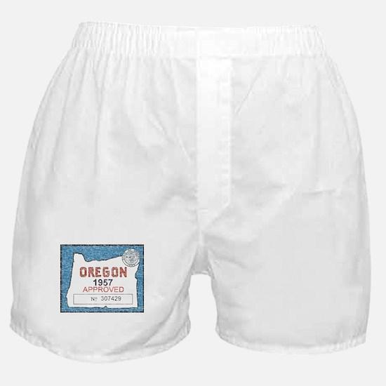 Vintage Oregon Registration Boxer Shorts