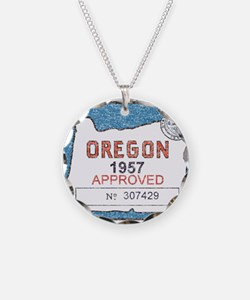 Vintage Oregon Registration Necklace