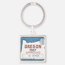 Vintage Oregon Registration Keychains