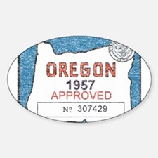 Vintage Oregon Registration Decal
