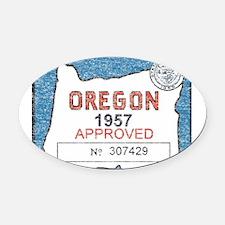 Vintage Oregon Registration Oval Car Magnet