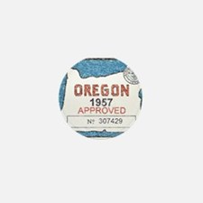 Vintage Oregon Registration Mini Button