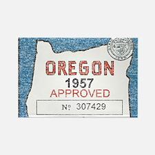 Vintage Oregon Registration Rectangle Magnet