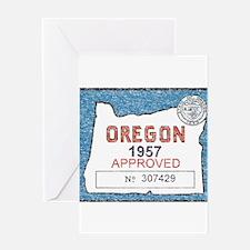 Vintage Oregon Registration Greeting Card
