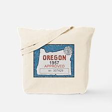 Vintage Oregon Registration Tote Bag