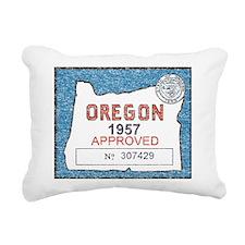 Vintage Oregon Registration Rectangular Canvas Pil