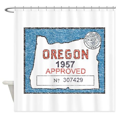 Vintage Oregon Registration Shower Curtain