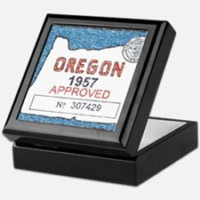 Vintage Oregon Registration Keepsake Box