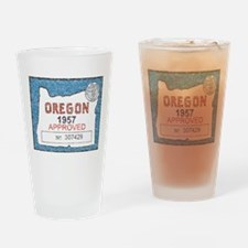 Vintage Oregon Registration Drinking Glass