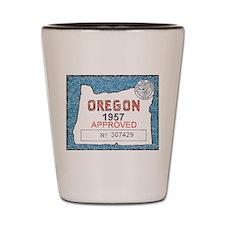 Vintage Oregon Registration Shot Glass