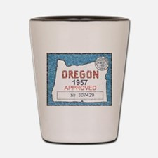 Vintage Oregon Registration Shot Glass