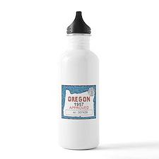 Vintage Oregon Registration Water Bottle